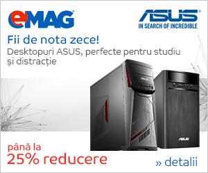 Campanie de reduceri Desktopuri ASUS- back to school, 27.08- 03.09.2018