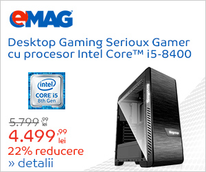 Campanie de reduceri Desktop gaming Serioux cu procesor i5, 27.08- 03.09.2018
