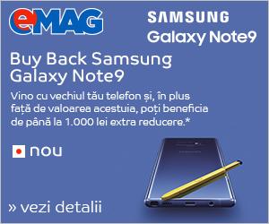 Campanie de reduceri Campanie Buy Back Samsung Galaxy Note9