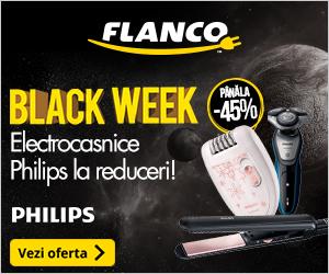 Campanie de reduceri Pana la -45% la electrocasnicele Philips - in Black Week