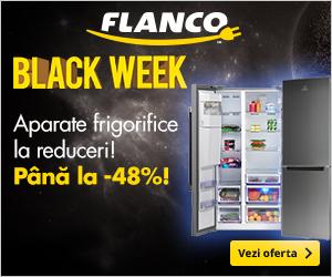 Campanie de reduceri Black Week la Flanco! Aparate frigorifice la reduceri de pana la 48%