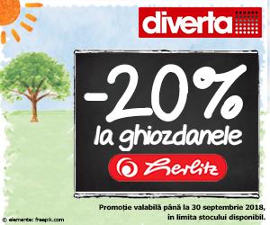 Campanie de reduceri -20% la ghiozdanele Herlitz