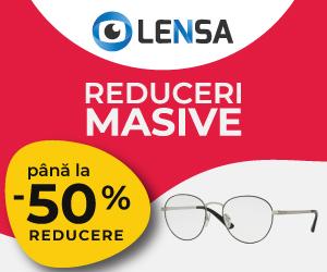 Campanie de reduceri Lensa.ro - Reduceri masive -50%
