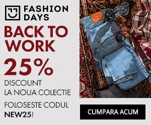 Campanie de reduceri Back To Work - 25% reducere la noile colectii pentru barbati