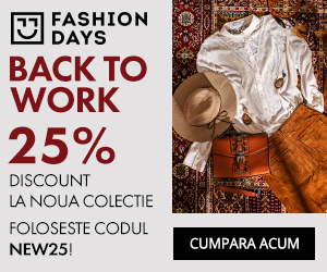 Campanie de reduceri Back To Work - 25% discount pentru noile colectii pentru femei