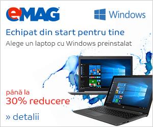 Campanie de reduceri Laptopuri cu Windows, 04- 10.09.2018