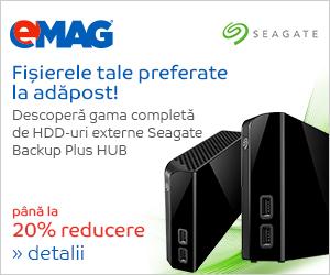 Campanie de reduceri HDD-uri Seagate Backup Plus HUB, 04- 10.09.2018
