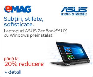 Campanie de reduceri Laptopuri ASUS UX Zenbook pana la 20% reducere, 10- 16.09.2018