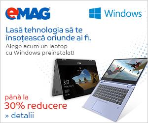 Campanie de reduceri Laptopuri premium cu Windows, 03- 07.09.2018