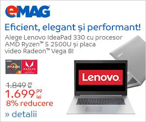 """Campanie de reduceri Laptop Lenovo IdeaPad 330-15ARR cu procesor AMD Ryzenâ""""¢ 5 2500U, 03- 10.09.2018"""