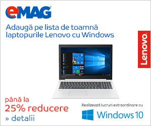 Campanie de reduceri Laptop Lenovo cu Windows BTS, 03- 10.09.2018