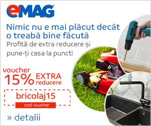 Campanie de reduceri DIY - Voucher 15% extra reducere divizie, 05- 09.09.2018