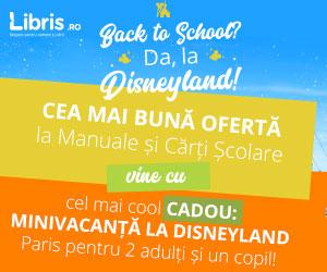 Campanie de reduceri Back to School? Da, la Disneyland! Cea mai buna oferta la Manuale si Carti Scolare + Orar + CADOU Minivacanta!