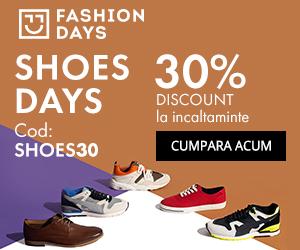 Campanie de reduceri Shoes Days - reduceri de 30% la incaltamintea pentru barbati