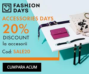 Campanie de reduceri Accessories Days - 20% reducere la articolele pentru femei