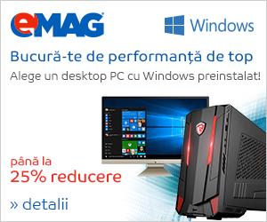 Campanie de reduceri Desktopuri cu Windows pana la 25% reducere, 23- 29.10.2018