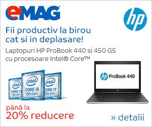 Campanie de reduceri Laptopuri HP ProBook cu Intel pana la 20% reducere, 22- 29.10.2018