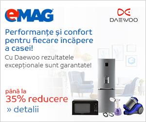 Campanie de reduceri Electrocasnice Daewoo
