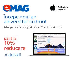 Campanie de reduceri Laptopuri MacBook Pro, 15- 26.10.2018