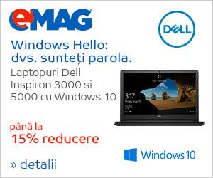 Campanie de reduceri Laptopuri Dell Inspiron 3000 si 5000 cu Windows 10, 15- 26.10.2018
