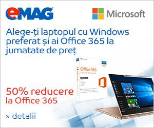 Campanie de reduceri 50% reducere la Office 365 cumparat impreuna cu un laptop din promotie, 23- 29.10.2018