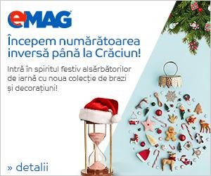 Campanie de reduceri Lansare colectie brazi si decoratiuni Craciun