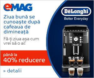Campanie de reduceri Espressoare DeLonghi - 29 octombrie - 4 noiembrie