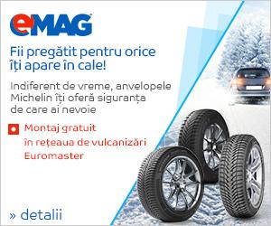 Campanie de reduceri Auto - Montaj gratuit anvelope Michelin, 26- 01.11.2018