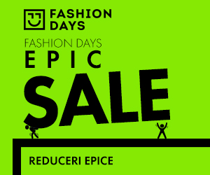 Campanie de reduceri Fashion Days Epic Sale - reduceri epice la tinute memorabile