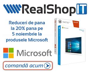 Campanie de reduceri Reduceri de pana la 20% pana pe 5 noiembrie la produsele Microsoft