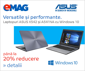 Campanie de reduceri Laptopuri ASUS nonROG cu Windows 10, 09- 14.11.2018