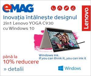 Campanie de reduceri Laptopuri Lenovo Yoga C930 cu Windows, 26.11- 04.12.2018