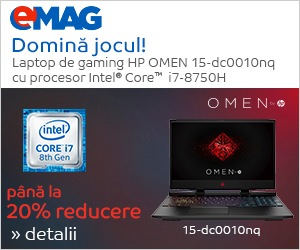 Campanie de reduceri Laptopuri HP Omen cu procesor Intel i7 generatia a 8a, 26.11- 10.12.2018