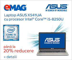 Campanie de reduceri Laptopuri ASUS seria X cu Intel, 02- 04.11.2018