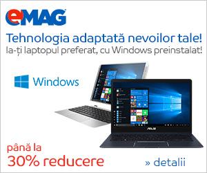 Campanie de reduceri Laptopuri cu WIndows pana la 30% reducere, 06- 12.11.2018