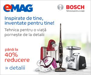 Campanie de reduceri Pana la 40% reducere la electrocasnicele mici Bosch