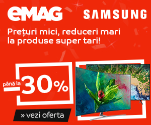 Campanie de reduceri Campanie After BF: Crazy Sale – Televizoare Samsung, 17-19 noiembrie 2018