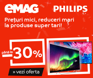 Campanie de reduceri Campanie After BF: Crazy Sale - Televizoare Philips, 17-19 noiembrie 2018