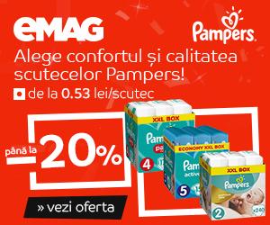 Campanie de reduceri Crazy sale - scutece Pampers