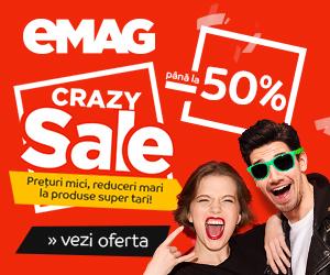 Campanie de reduceri Crazy Sale la eMAG cu reduceri de pana la 50%