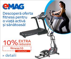 Campanie de reduceri [Sport] Voucher 10% extra reducere la produse fitness, 26 noiembrie - 2 decembrie 2018