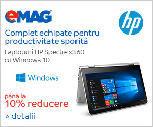 Campanie de reduceri Laptop HP Spectre x360 cu Microsoft, 26.11- 03.12.2018