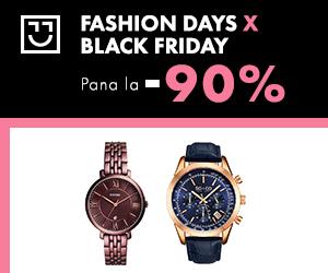 Campanie de reduceri Black Friday - reduceri de pana la 90% la ceasuri