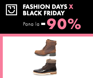 Campanie de reduceri Black Friday - reduceri de pana la 90% la cizme