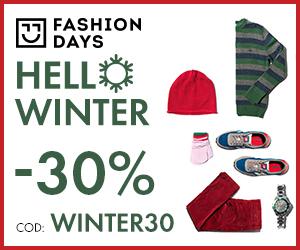 Campanie de reduceri Hello Winter - reduceri de 30%