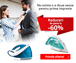 Campanie de reduceri Pana la 60% reducere la fiare de calcat! Prinde oferta!