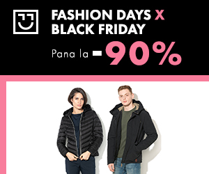 Campanie de reduceri Black Friday - reduceri de pana la 90% la jachete si geci