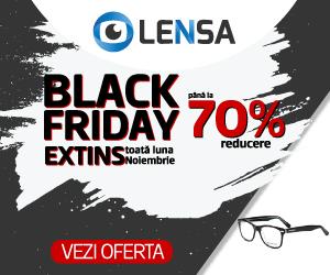 Campanie de reduceri Lensa.ro - Black Friday -70%