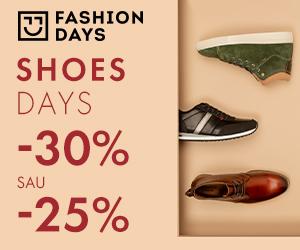 Campanie de reduceri Shoes Days - 30% sau - 25% reducere la articolele pentru barbati