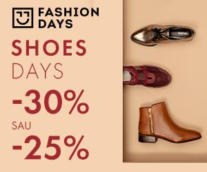 Campanie de reduceri Shoes Days -30% sau -25% reducere la articolele pentru femei